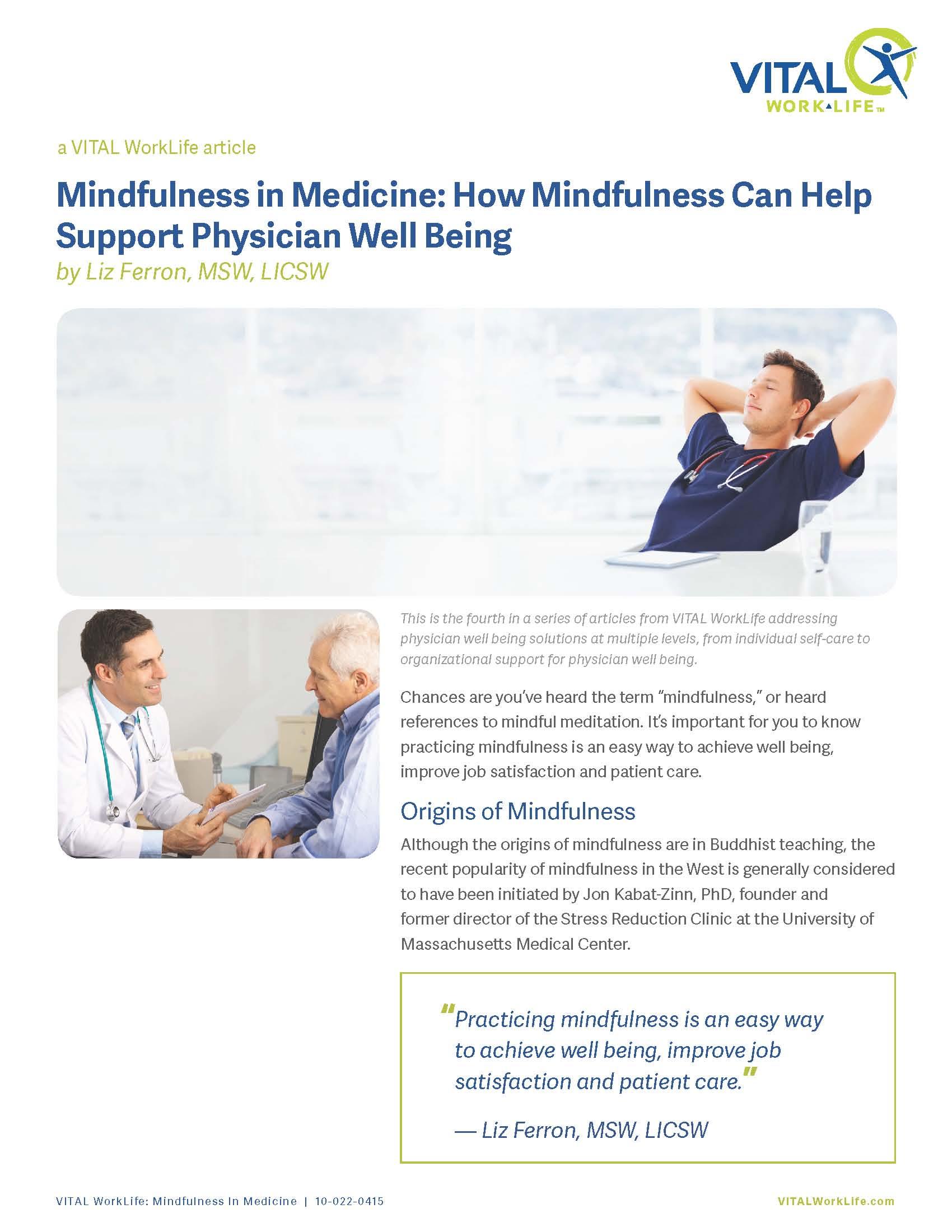Mindfulness in Medicine