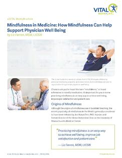 Mindfulness in Medicine