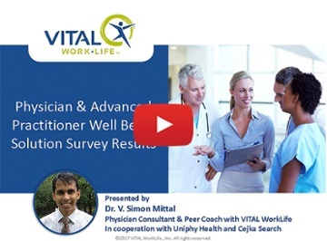 Watch Webinar:  Physician and Advanced Practitioner Well Being Solutions Results